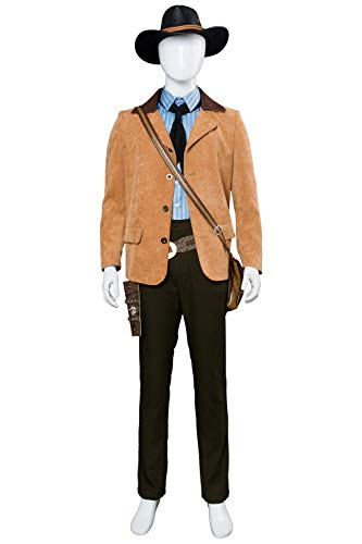 Newhui Adult Western Cowboy Cosplay Costume Hat Sharpshooter Outfit Holster ()