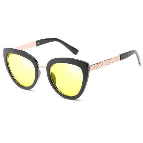 Moda Mujeres Calidad Uv de Alta Yellow Gafas de Lujo Redondas Femeninas Estilo Marca Sol GGSSYY Beige Gafas de Verano Sombras Nuevo de Rhinestone wqRWSxHXP