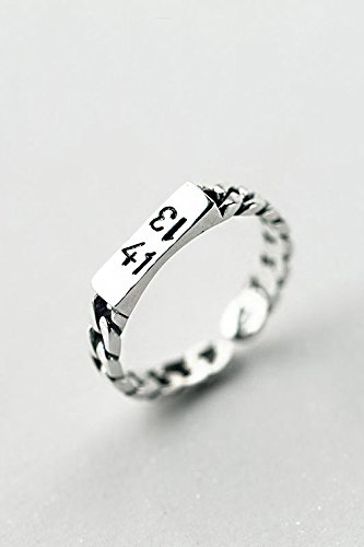 Generic 925 sterling silver rings women girls lady Thai silver twist ring 1314 digital punk weave ring ring opening
