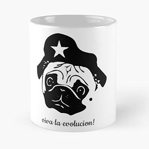 Cuba Pug Puppy Revolution Coffee Mugs Unique Ceramic Novelty Cup