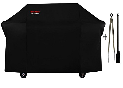 BroilPro Accessories Grill 7555 Cover for Weber Summit 600-series Gas Grills with Brush and Tongs (Fits E-620 S-620 E-670 S-670)