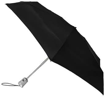 Totes Flat Auto Open Auto Close Umbrella,Black,One Size