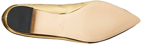 Nine West Womens abay Patent Pointed Toe Flat Gold