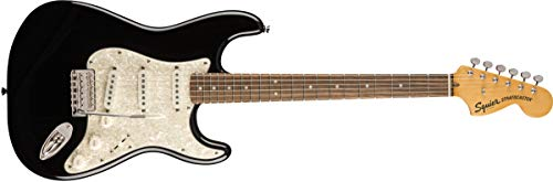 Squier by Fender Classic Vibe 70's Stratocaster Electric Guitar - Laurel Fingerboard - Black