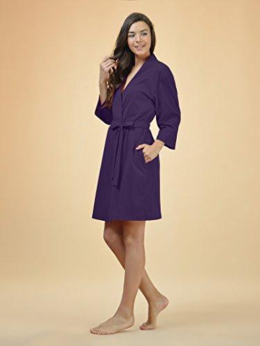 SIORO-Womens-Cotton-Robe-Soft-Kimono-Robes-Knit-Bathrobe-Loungewear-Sleepwear-Short