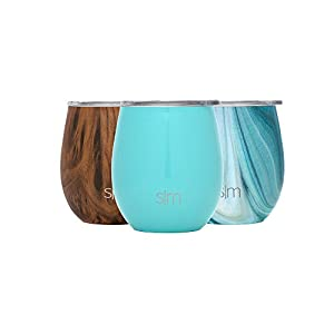 Simple Modern Spirit 8oz Wine Tumbler - Vacuum Insulated Swell Double Wall Flask - 18/8 Stainless Steel Travel Mug - Caribbean