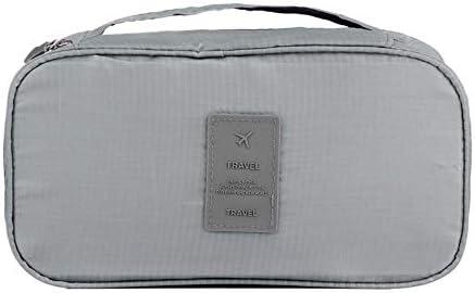 トラべラブ圧縮バッグ 旅行多機能下着ブラジャー仕上げバッグポータブル収納袋オレンジ トラベルポーチ 出張 旅行 便利グッズ (Color : Gray, Size : Free size)