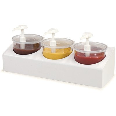 Carlisle 030600 Classic Crock Condiment Station Kit, 3 Crocks, 2.7 qt. Capacity Per Crock by Carlisle
