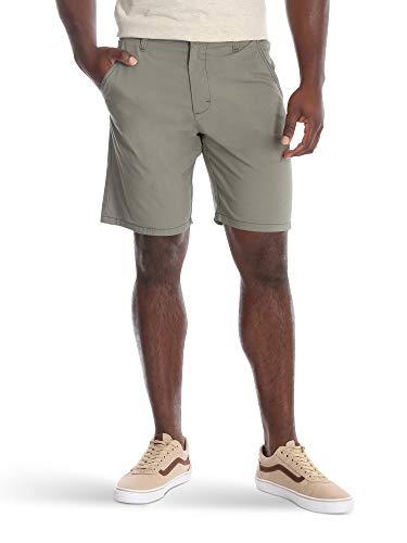 Wrangler Authentics Men's Performance Comfort Flex Flat Front Short, Army Green, 40
