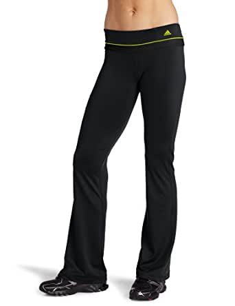 adidas Women's Adifit Regular Pant, Black/Lab Green, Small
