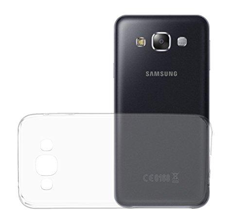 OKCS® TPU involucro Case per Samsung Galaxy E5 incl. Wunderglass® vetro blindato Screenprotector foglio Protector