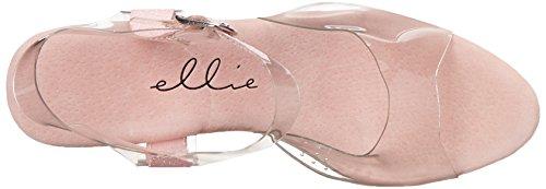 Ellie Sko Kvinners 709-glitter Plattform Sandal Rosa