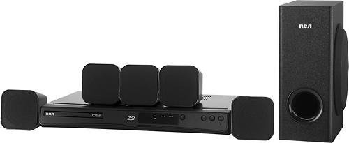 RCA 200-Watt DVD Home Theater System (1080p HD) - Dolby Digital 5.1 Surround Sound & HDMI Out, (RTD3266)