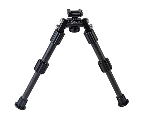 Caldwell Accumax Premium Carbon Fiber Pic Rail Bipod with Twist Lock Quick-Deployment Legs for Mounting on Long Gun Rifle for Tactical Shooting Range and Sport ()