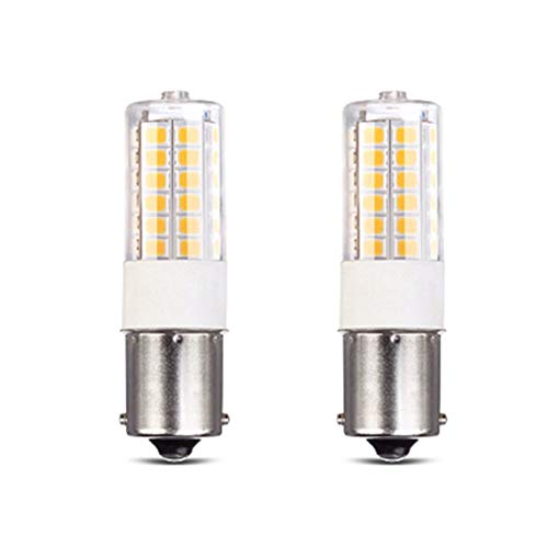 Makergroup 12VAC/DC Low Voltage 3Watt BA15S S8 SC Bayonet Single Contact Base 1156 1141 LED Light Bulb for Outdoor Landscape Lighting Path Lighting Deck Lighting(2-Pack, White ()