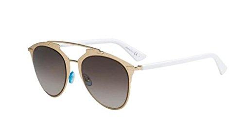 New Christian Dior DIOR REFLECTED 31U/HA rose gold white/smoke shaded - Gold Dior White And Sunglasses
