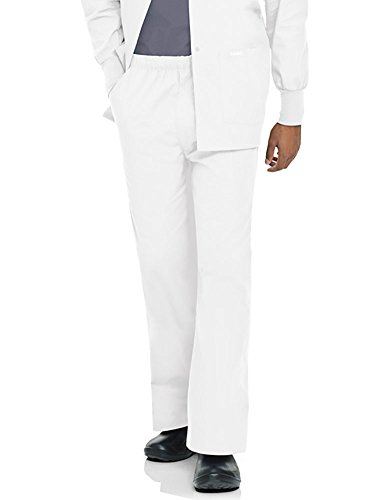 Landau 'Men's Elastic Drawcord Pant' White Tall M