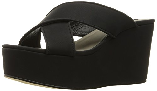 Michael Antonio Women's Gimble Platform Dress Sandal, Black, 7 M US