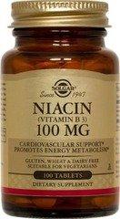 Solgar niacine vitamine B3 comprimés, 100 mg, 100 comte