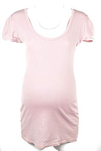 - Michael Stars Maternity OSFA Puff S/S Scoop Neck Tshirt top Pink