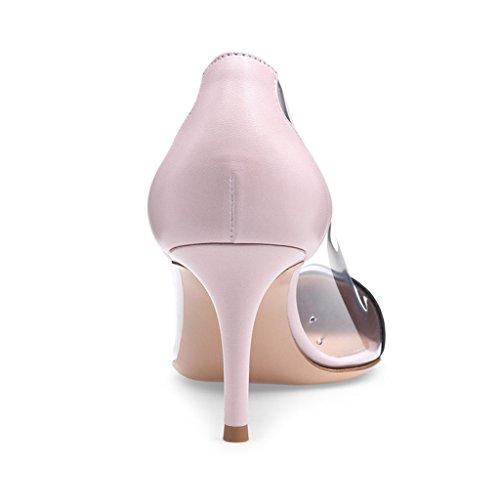 Stiletto Hauts Pour Chaussures yy À Surpiqûres 9 Lyy Surélevéhauteur 5 5 CmPink Talons Talon8 Femmes Du Pointues kPXuiZ