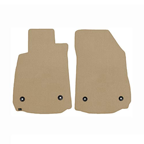 - Brightt (MAT-OFU-988) 2 Pc Front Floor Mats - Tan Classic Carpet - compatible for 1972-1976 Ford Torino 2 Door (1972 1973 1974 1975 1976 | 72 73 74 75 76)