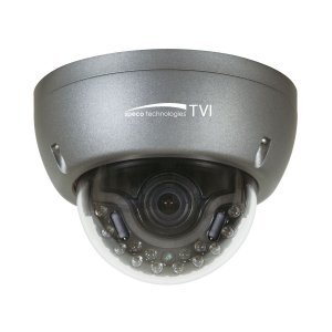 (Speco Technologies Intense IR HD TVI Only Camera Dome Camera, Dark Gray (HT5941T))