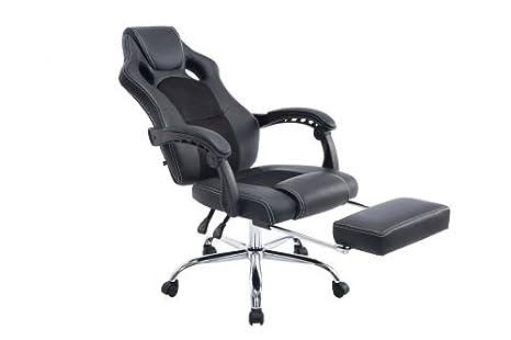 Clp poltrona ufficio relax energy sedia gaming con poggiapiedi