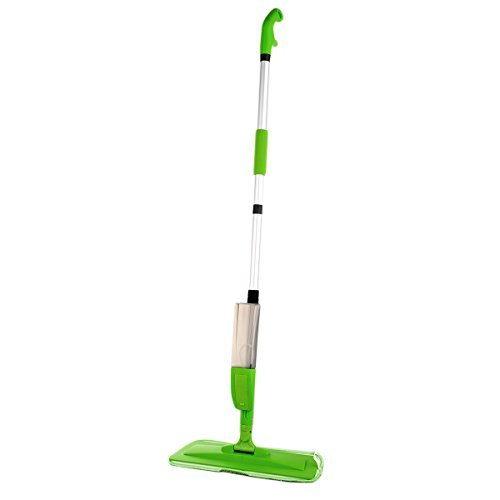 KCT 2 in 1 Green Spray Mop Floor and Window Cleaner with Microfibre Pads - Ideal for Hardwood, Laminate, Tiles and More 5060502534347