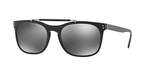 - Burberry Men's BE4244F Sunglasses Matte Black/Grey Mirror Silver 56mm