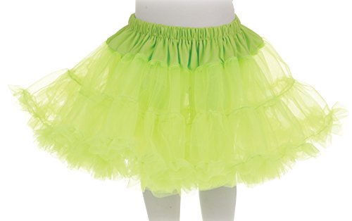 Diy Costumes With Green Tutus (Underwraps Big Girl's Underwraps Girl's Tutu Skirt - Neon Green, OS Childrens Costume, neon green, One Size)