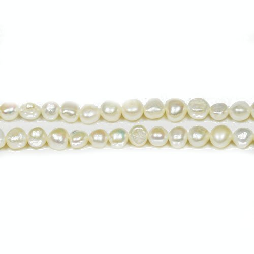 Strand 90+ Pale Cream Freshwater Pearl 2-4mm Baroque Potato Beads FP1679-1 (Charming Beads) (Blue Potato Freshwater Pearl Beads)