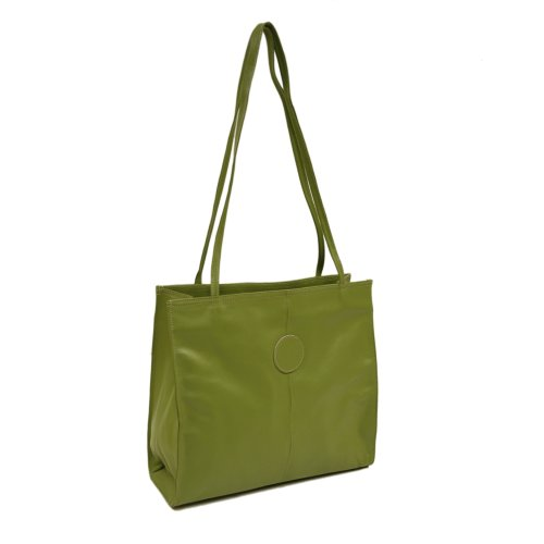 Piel Leather Medium Market Bag, Apple, One Size