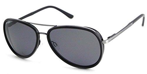 Peppers Polarized Sunglasses Luna Antique Silver/Black with Smoke - Luna Sunglasses