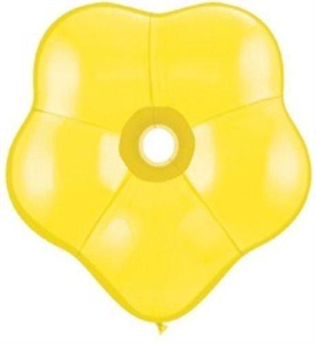Geo Blossom Flower Shaped Yellow Qualatex Latex 6