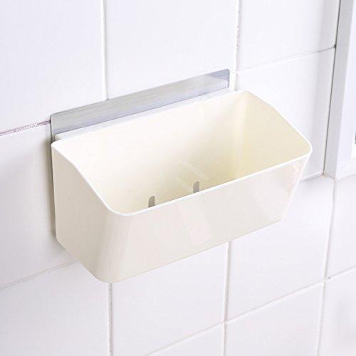 cheap OUNONA Shower Caddy Storage Basket Wall Mount Kitchen Plastic ...