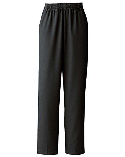 Donnkenny Elastic-Waist Gabardine Pull-On Pants, Black, 22W - Womens