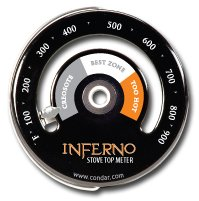 Inferno Stove Top Meter (3-30) thermometer measures temperatures on stove top by Condar (Image #2)