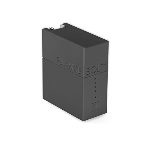 FLUXMOB BOLT2 Portable Power Adapter: USB Wall Charger and Universal Battery Backup, (Stealth Backup)