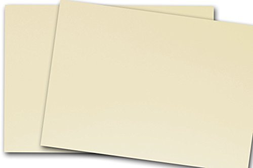 Blank Classic Crest 5x7 Flat Card Stock (50 Pack, Baronial Ivory - 80 lb)