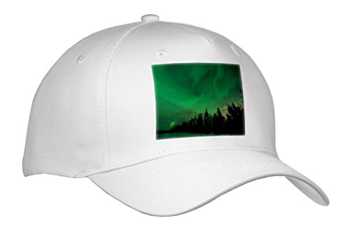 Danita Delimont - Northern Lights - US, Alaska, Fairbanks. Northern Lights Display - Caps - Adult Baseball Cap (Cap_278434_1) (Fairbanks Northern Lights Alaska)