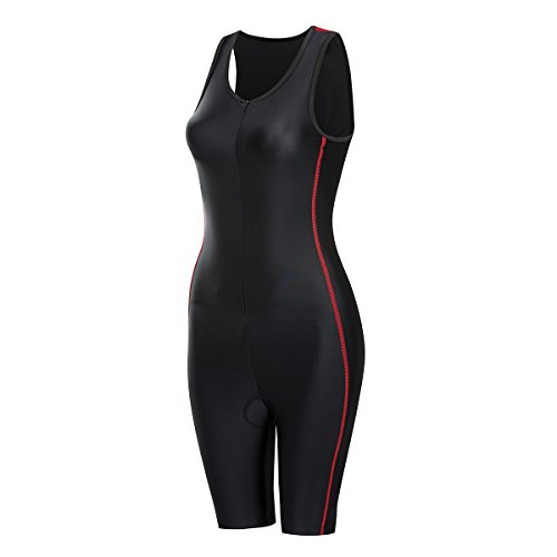 - Lo.gas Mens/Womems Padded Triathlon Tri Suit Quick Dry Compression Running Swimming Cycling Sleeveless Skin Suit