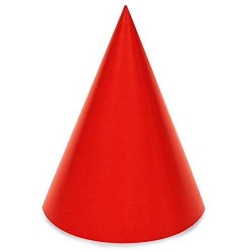 BirthdayExpress Red Cone Party Hats (8)