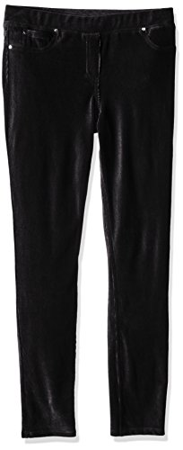 Price comparison product image Amy Byer Big Girls' Slim Leg Stretch Corduroy Pant, Black, X-Large