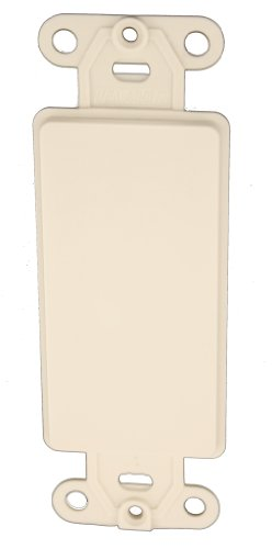 Leviton 80414-T Decora plastic adapter plate, Blank - No hole, with-ears, and two mounting screws. Light Almond ()