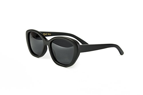 Tiger Paw - Women's Bamboo Sunglasses, Polarized (Black, - For Narrow Women's Faces Sunglasses