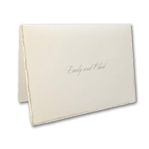 875pk Sophisticated Edges - Note Card and Envelope-Thank You Notes by Carlson Craft (Image #1)