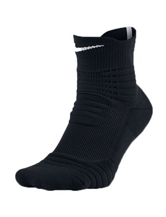Nike Elite Versatility Mid Quarter Adult Basketball Athletic Training Socks SX5370 (XL, 012 Black/White)