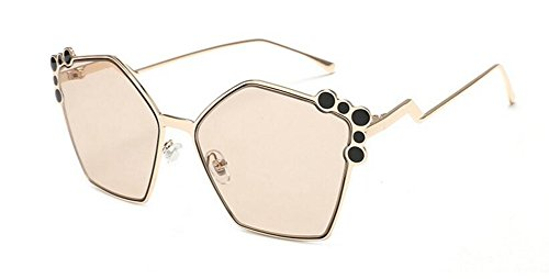 inspirées Thé Léger retro Lennon polarisées lunettes de en style rond métallique du cercle vintage soleil YUO8tqw6