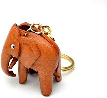 Amazon.com: Elefante Animal 3d llavero de piel (L) vanca ...